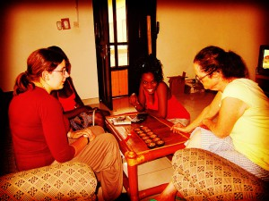 volunteer ghana dorm chess
